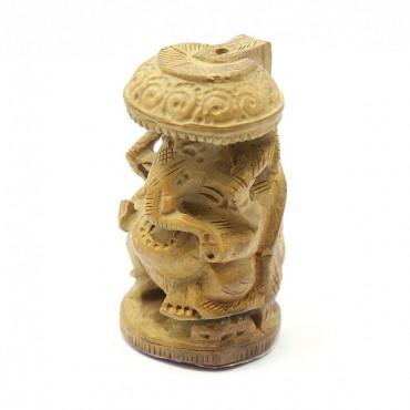 Ahşap Ganesha Biblo - Küçük Boy