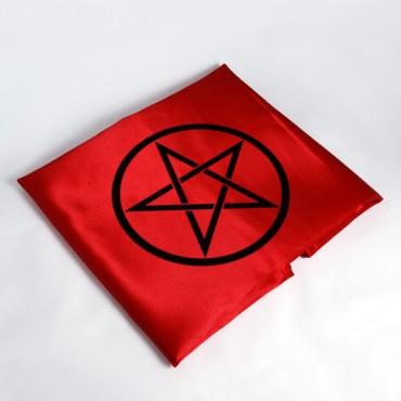 Pentagram Altar Örtüsü Kırmızı 45cm