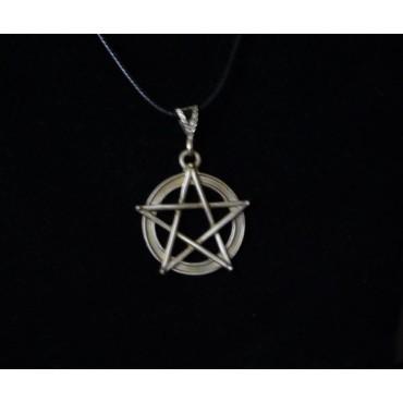 Pentagram Kolye Ucu 925 Ayar Gümüş Model 2
