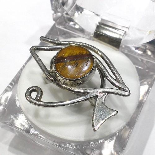 Horus'un Gözü - Ra'nın Gözü Yüzük 925 Ayar Gümüş
