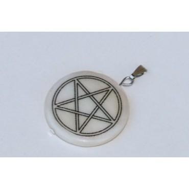 Sedef Pentagram Kolye Ucu