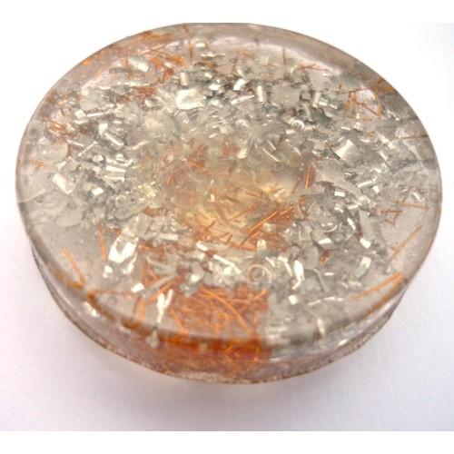 Sitrin Orgonit Disk- Zenginlik Göbek Çakra