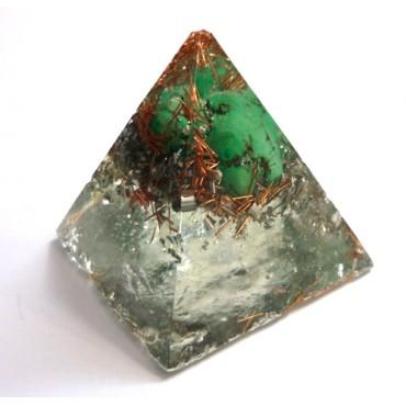 Turkuaz Taşlı Küçük Piramit Orgonit
