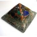 7 Çakra Taşlı Piramit Orgonit Büyük Boy