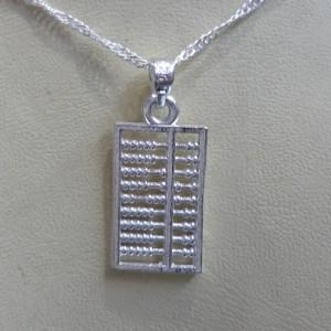 Abaküs Gümüş Kolye - Feng Shui Zenginlik Sembolü
