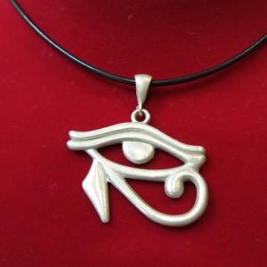 Horusun Gözü - Ra'nın Gözü Kolye Ucu 925 Ayar Gümüş