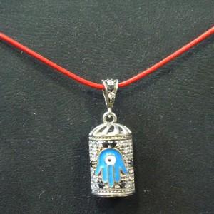 Cevşen Kolye Ucu 925 Ayar Gümüş Fatima'nın Eli Sembollü