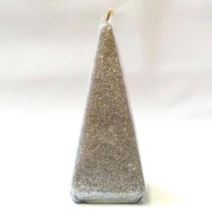 Piramit Mum - Gümüş Rengi