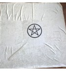 Kadife Pentagram Tarot Örtüsü 95 cm