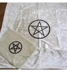Kadife Pentagram Tarot Örtü ve Kese Seti Küçük