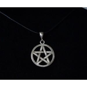 Pentagram Kolye Ucu 925 Ayar Gümüş Model 1