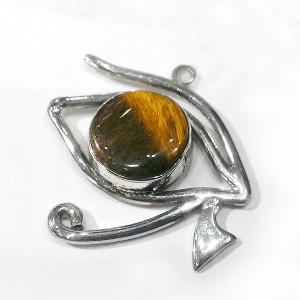 Horus'un Gözü - Ra'nın Gözü Kolye Ucu 925 Ayar Gümüş